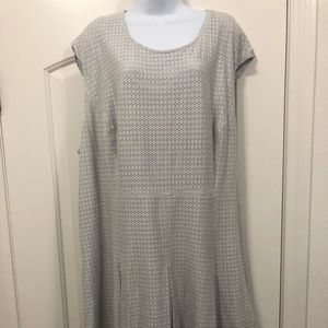 The Limited Grey Eyelet dress